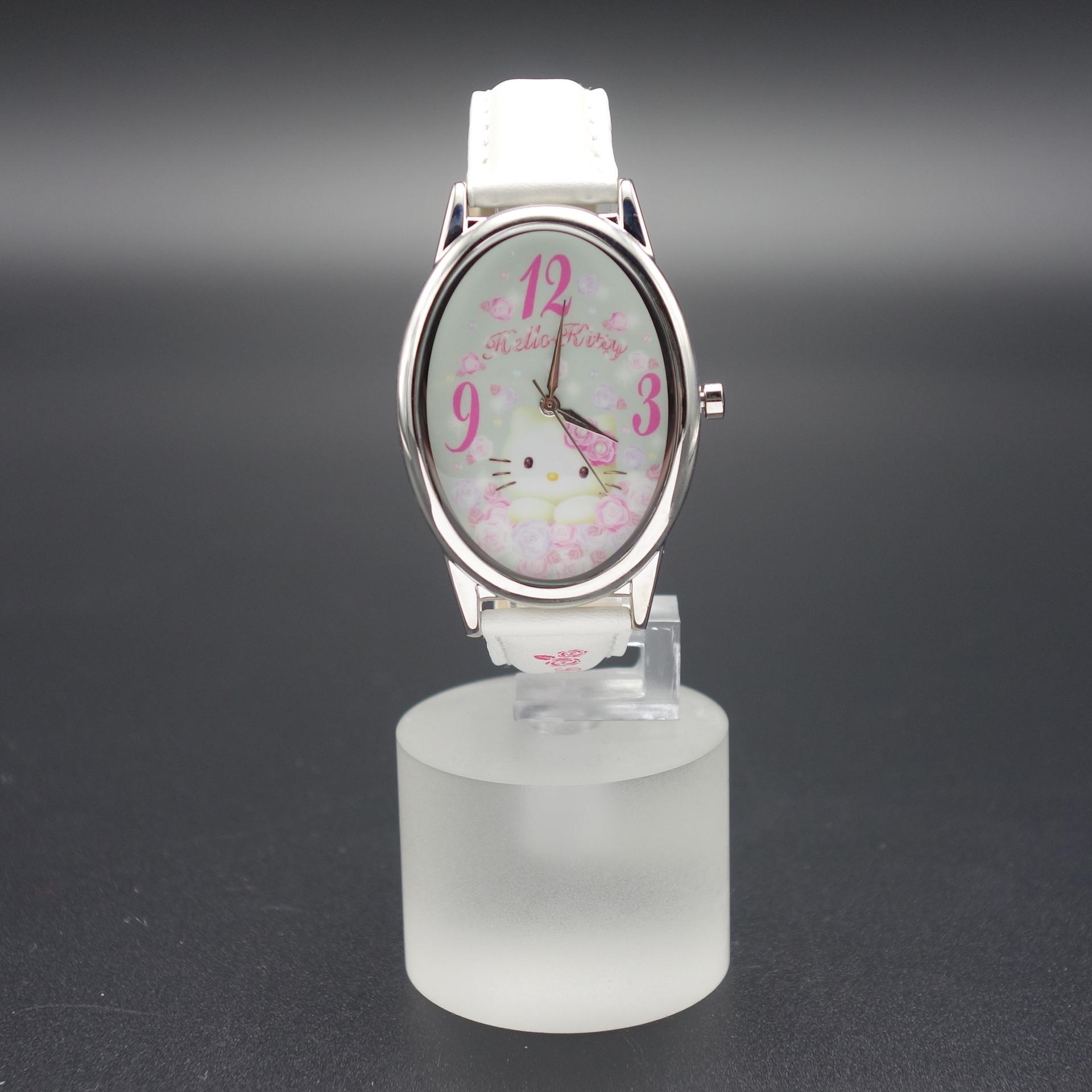Hello Kitty Damen Armbanduhr Weiß/Rosa