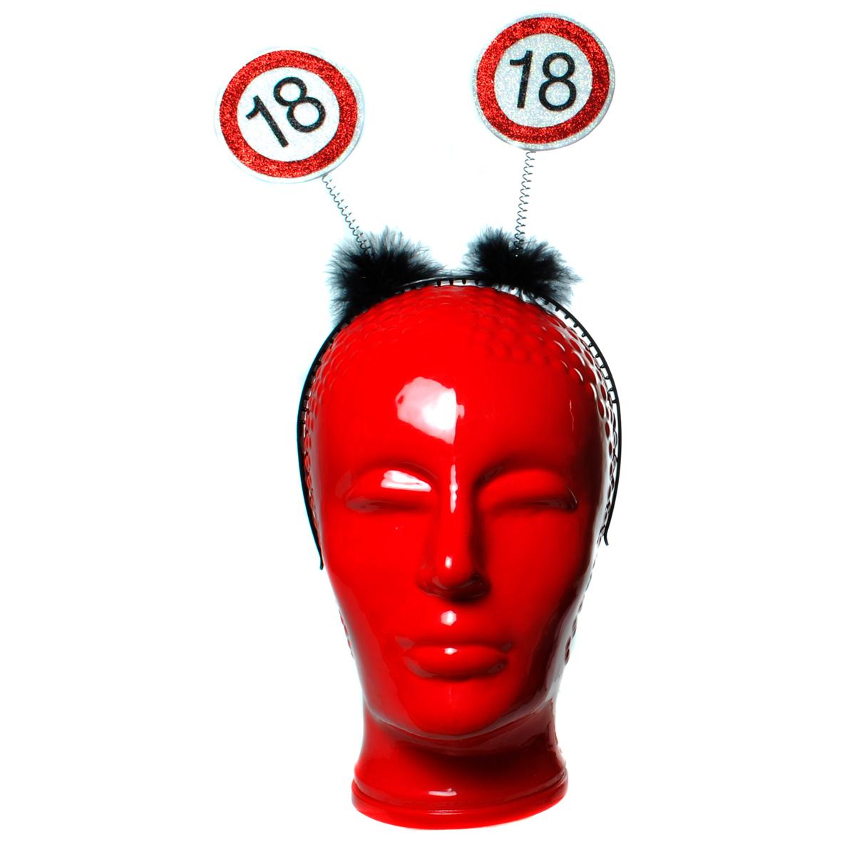 """Geburtstagsdekoration Geschenkidee Haarreifen """"18"""" Kopfbedeckung"""