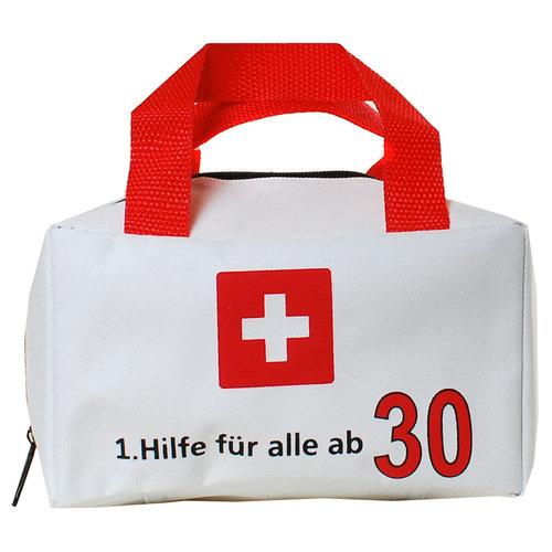 """Geburtstagsdekoration """"30"""" Geschenkidee 1. Hilfe Tasche Spaßgeschenk"""