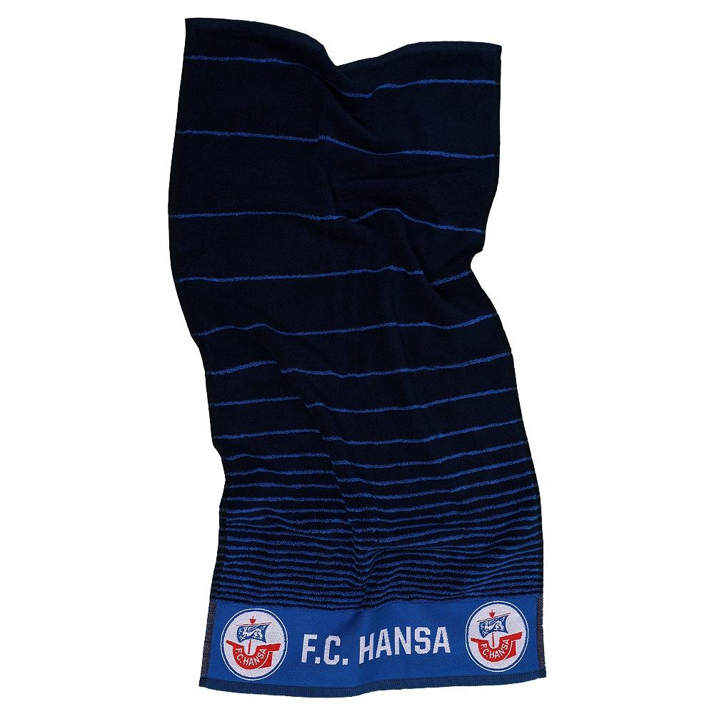 Hansa Rostock Duschtuch Streifen FC Hansa Strandtuch