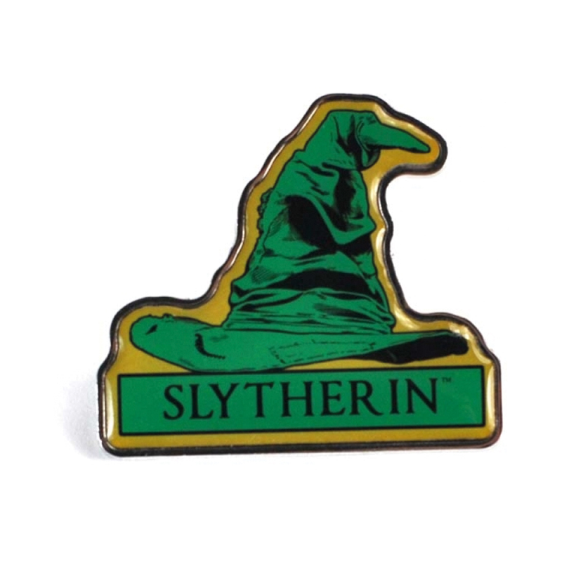 """Harry Potter Anstecker Pin Badge """"Slytherin"""" Sorting Hat"""