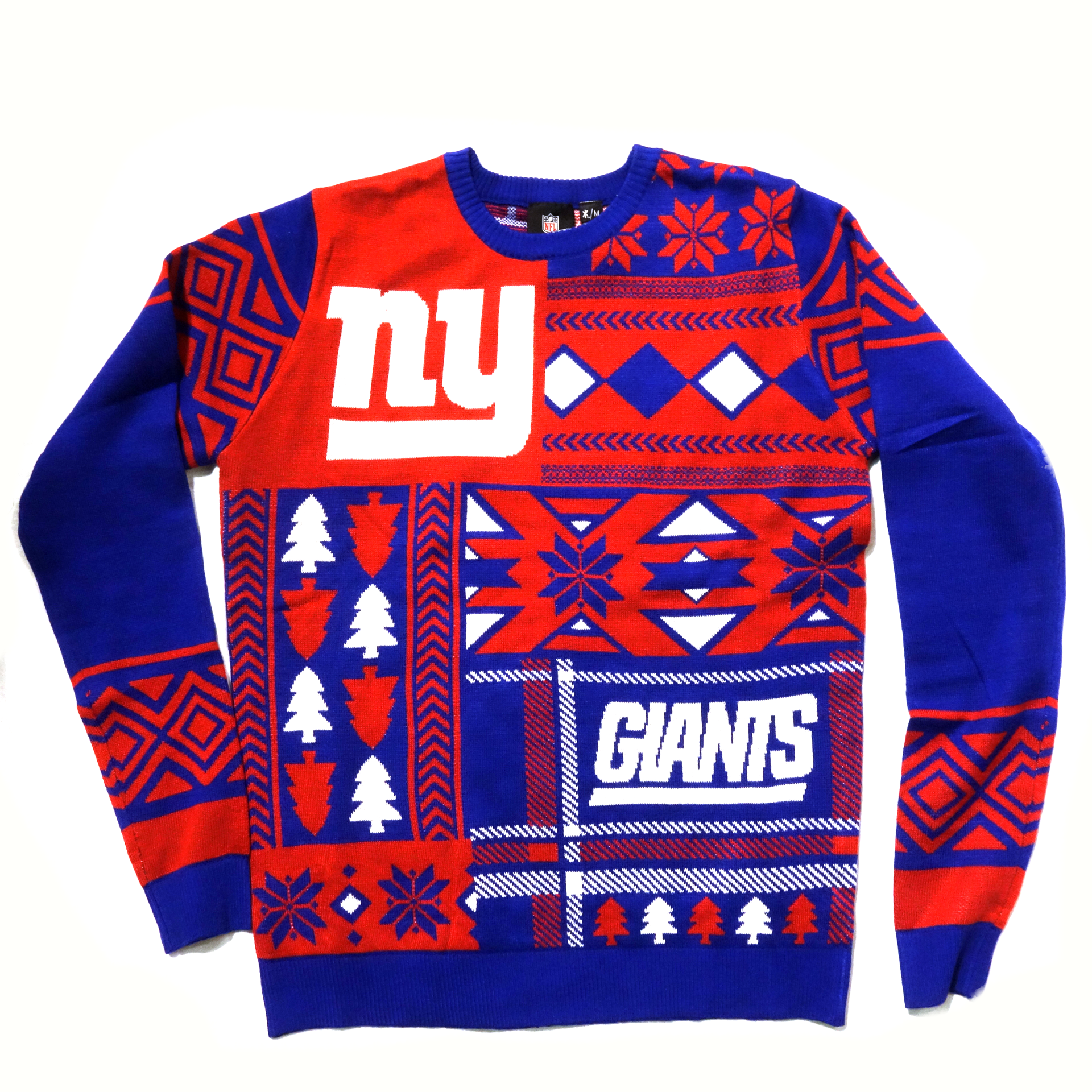 NFL Pullover New York Giants Ugly Sweater Weihnachtsmotive