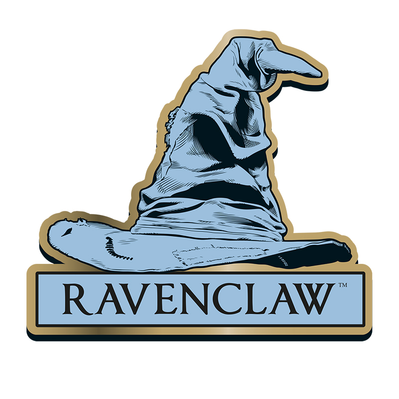 """Harry Potter Anstecker Pin Badge """"Ravenclaw"""" Sorting Hat"""
