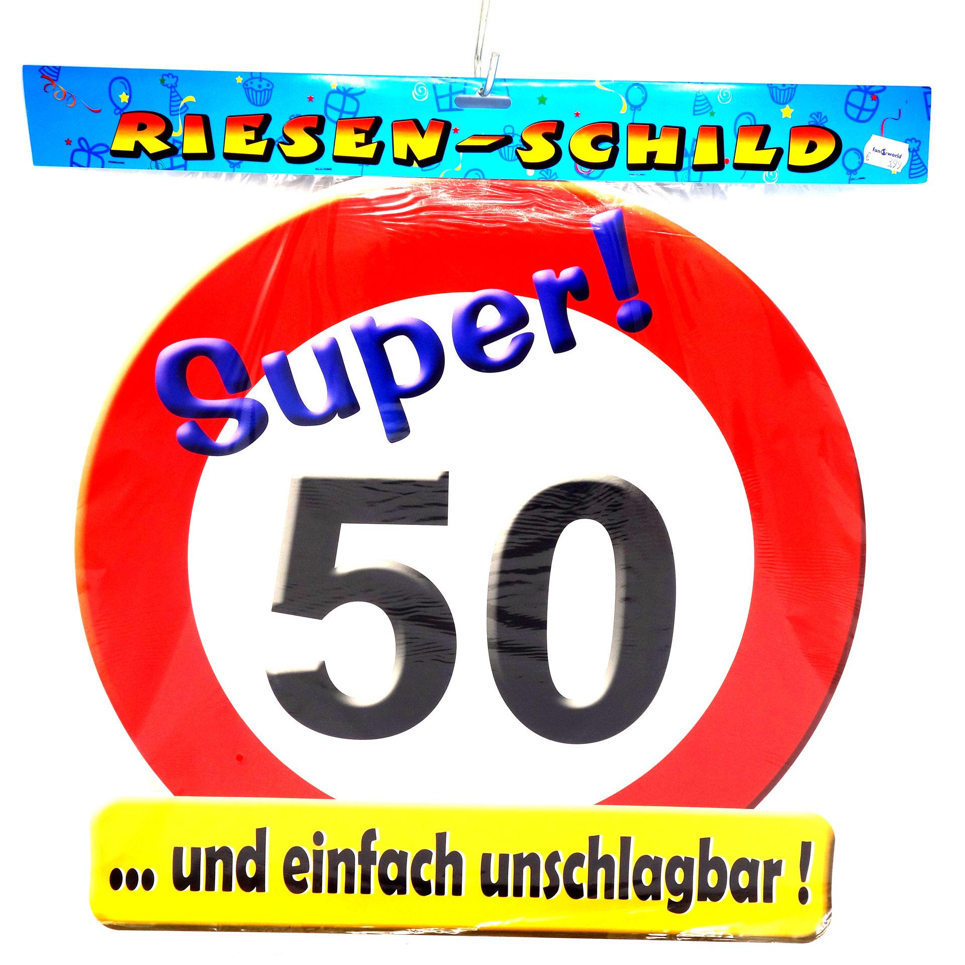 Geburtstags Riesen Deko Schild Super 50