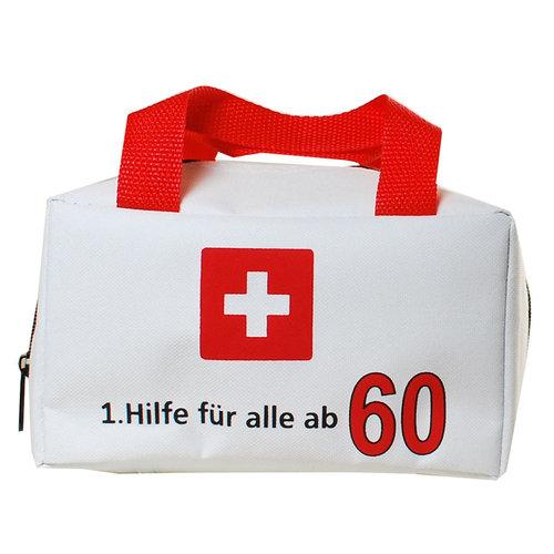 """Geburtstagsdekoration """"60"""" Geschenkidee 1. Hilfe Tasche Spaßgeschenk"""