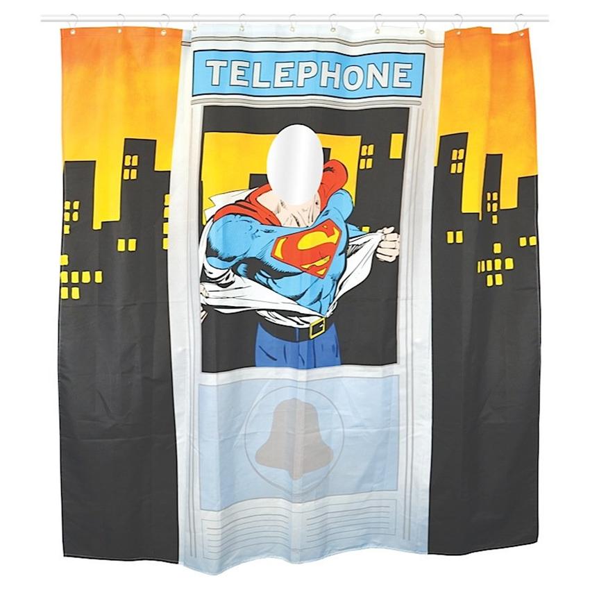 "Superman Duschvorhang ""Telephone"" Shower Curtain"