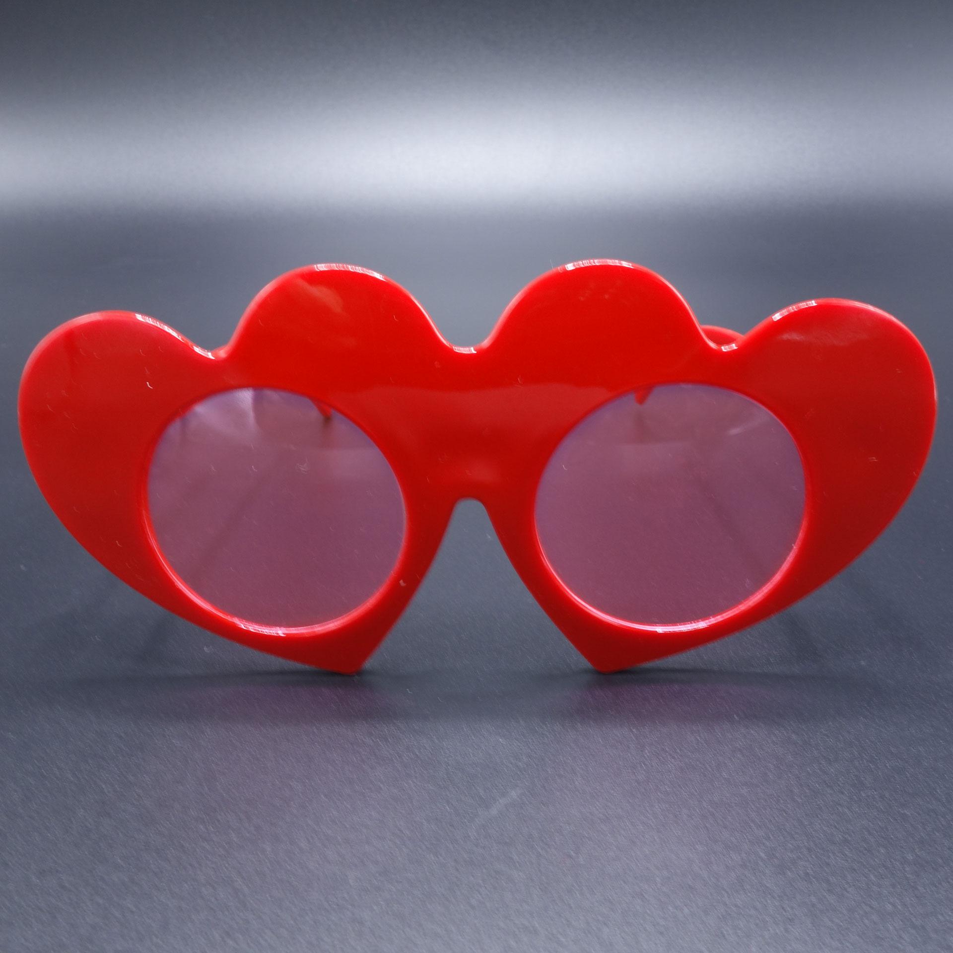 Partybrille Spassbrille Scherzartikel Brille Herz
