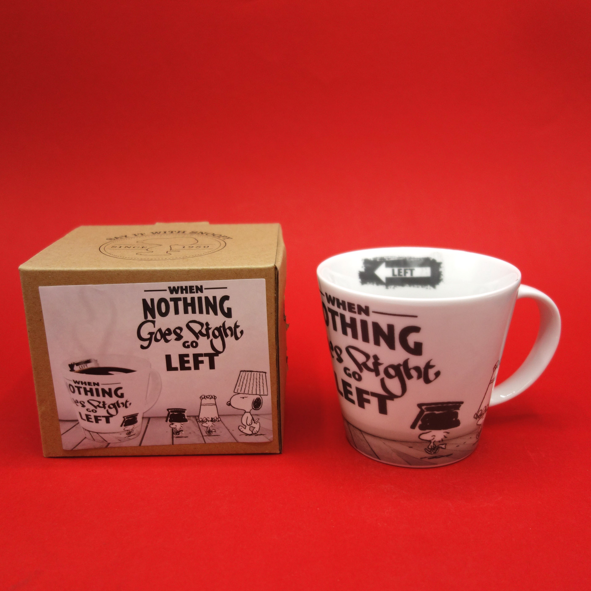 Snoopy Peanuts Tasse Nothing Goes Right...