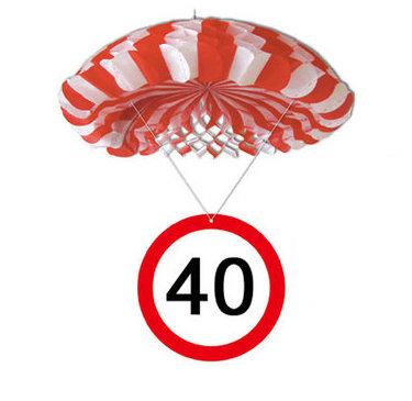 """Geburtstagsdekoration Hänge-Deko """"40"""" Fallschirm"""