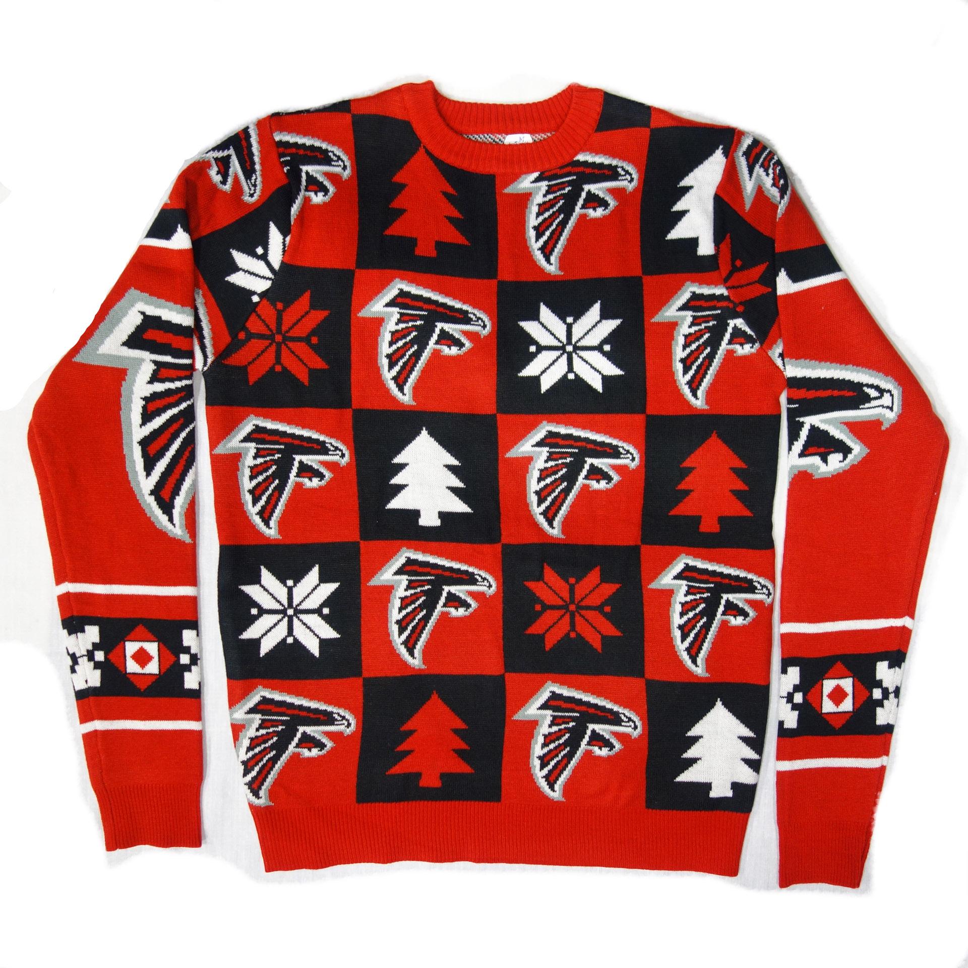 NFL Ugly Sweater Atlanta Falcons Schachbrettmuster Weihnachtspullover