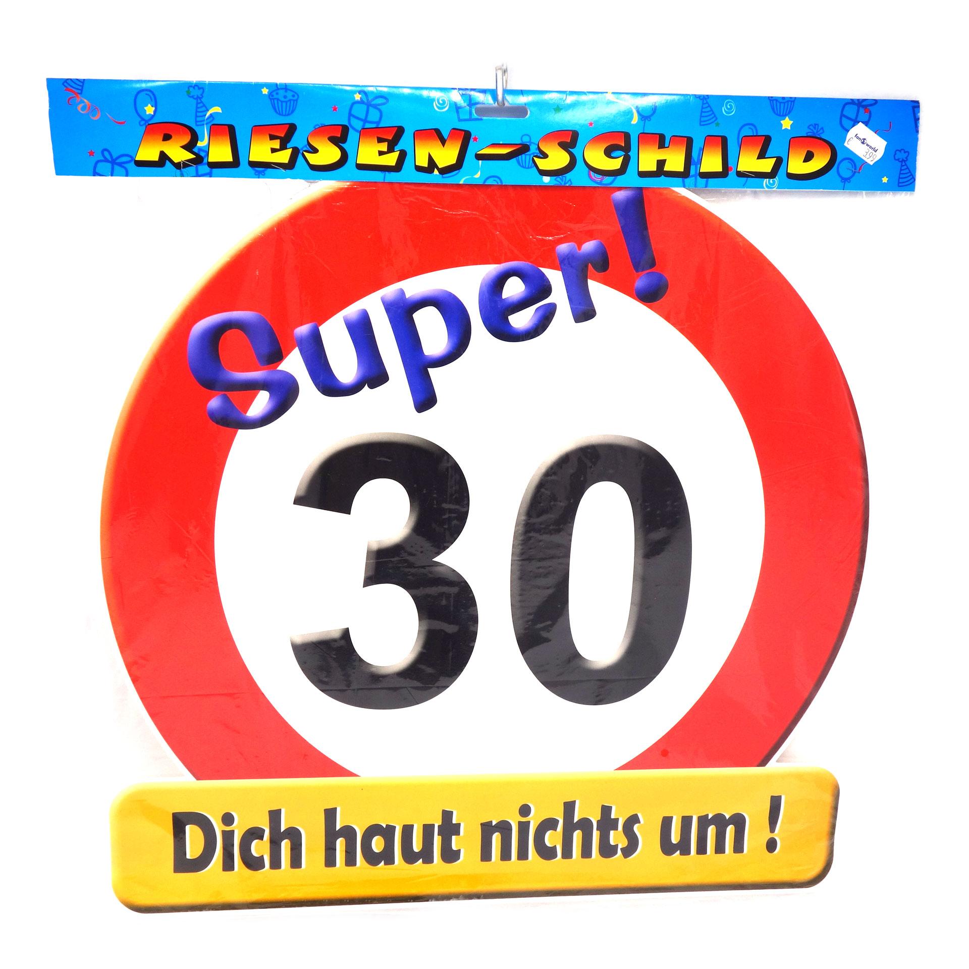 Geburtstags Riesen Deko Schild Super 30