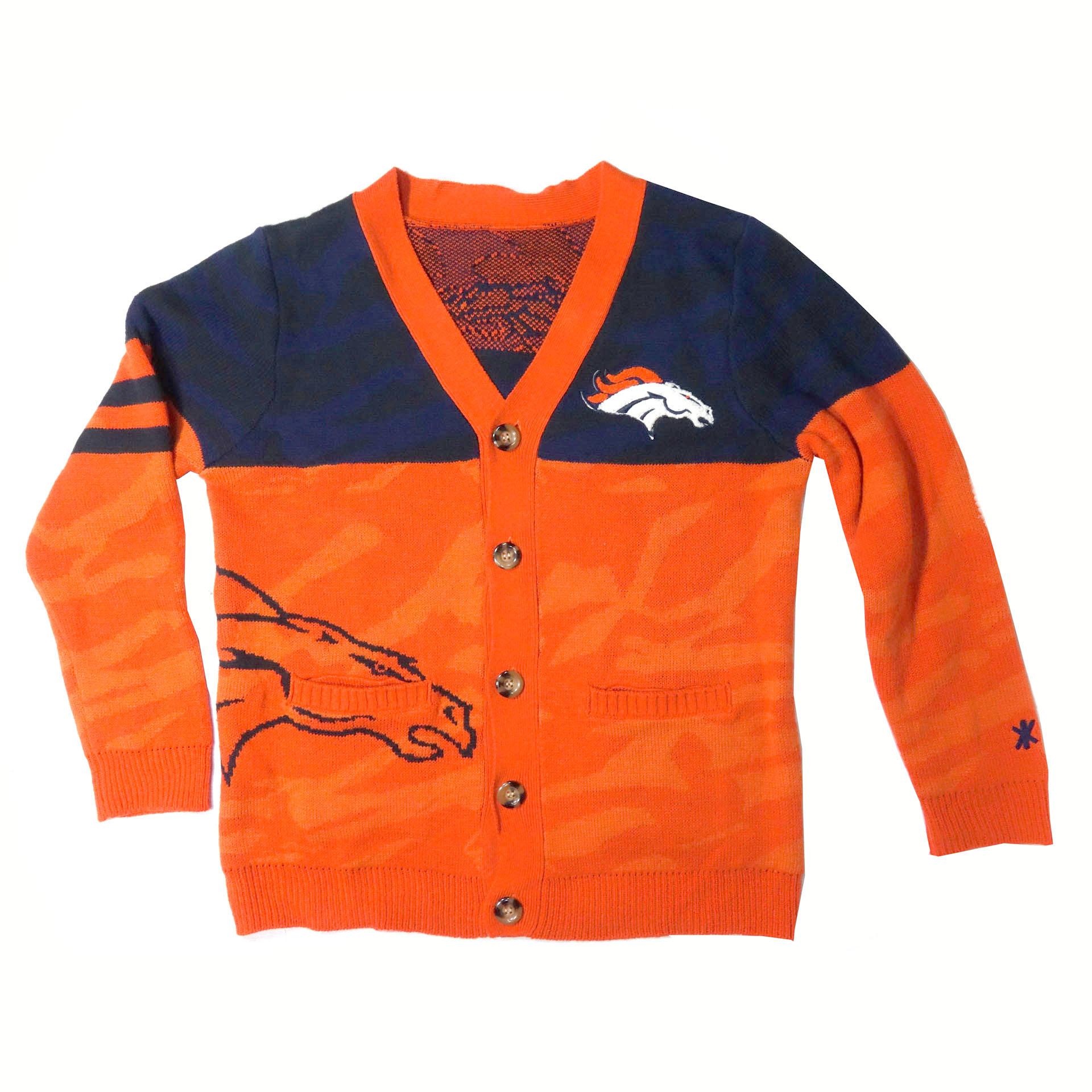 NFL Strickjacke mit Knöpfen Denver Broncos Kardigan