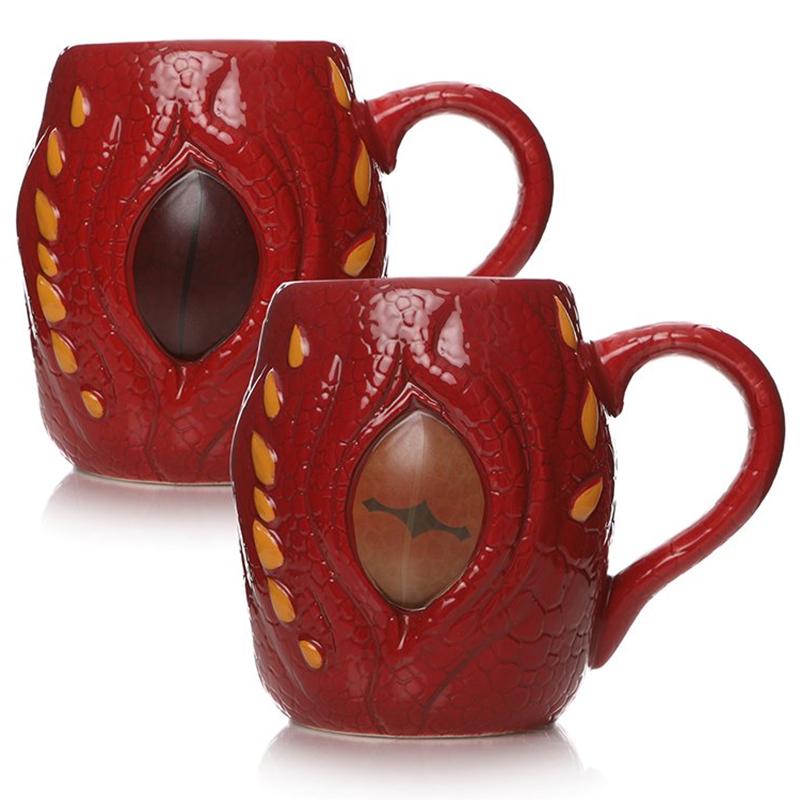 Der Hobbit Zaubertasse mit Thermoeffekt, Heat Changing Mug, Drachenauge
