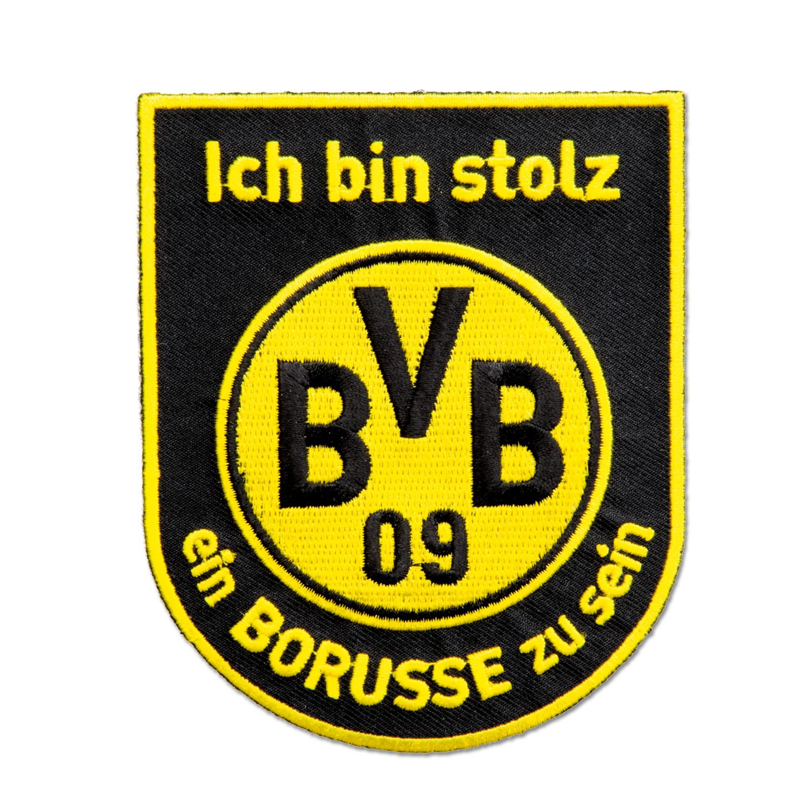 BVB Aufnäher Aufbügler Ich Bin Stolz Ein Borusse Zu Sein