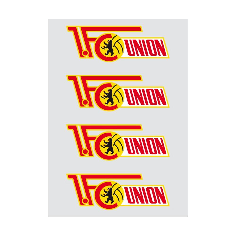 Union Berlin Autoaufkleber Logo Farbig 4er Set