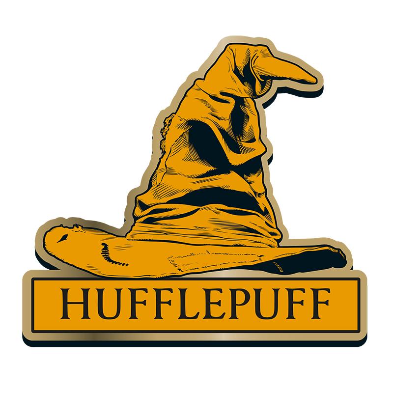 "Harry Potter Anstecker Pin Badge ""Hufflepuff"" Sorting Hat"