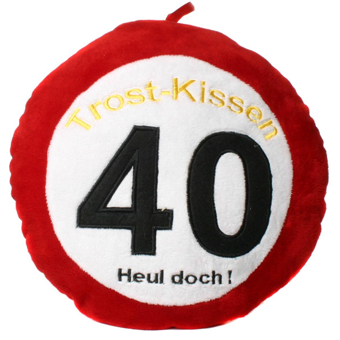 """Geburtstagsdekoration Geschenkidee Trost-Kissen """"40"""""""