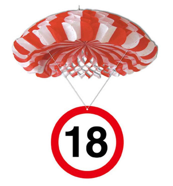 """Geburtstagsdekoration Hänge-Deko """"18"""" Fallschirm"""