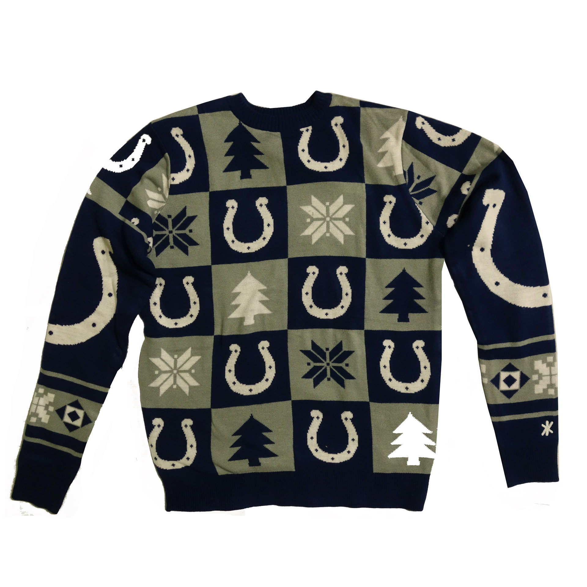 NFL Ugly Sweater Indianapolis Colts Schachbrettmuster Weihnachtspullover