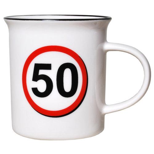 """Geburtstagsgeschenk Tasse """"50"""" Becher"""