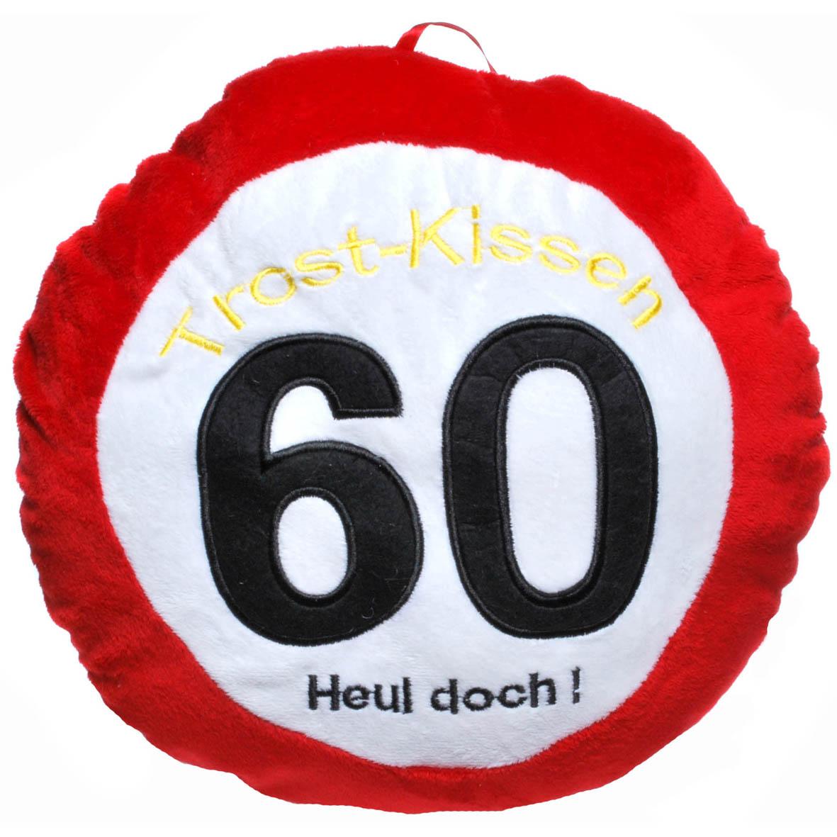 """Geburtstagsdekoration Geschenkidee Trost-Kissen """"60"""""""