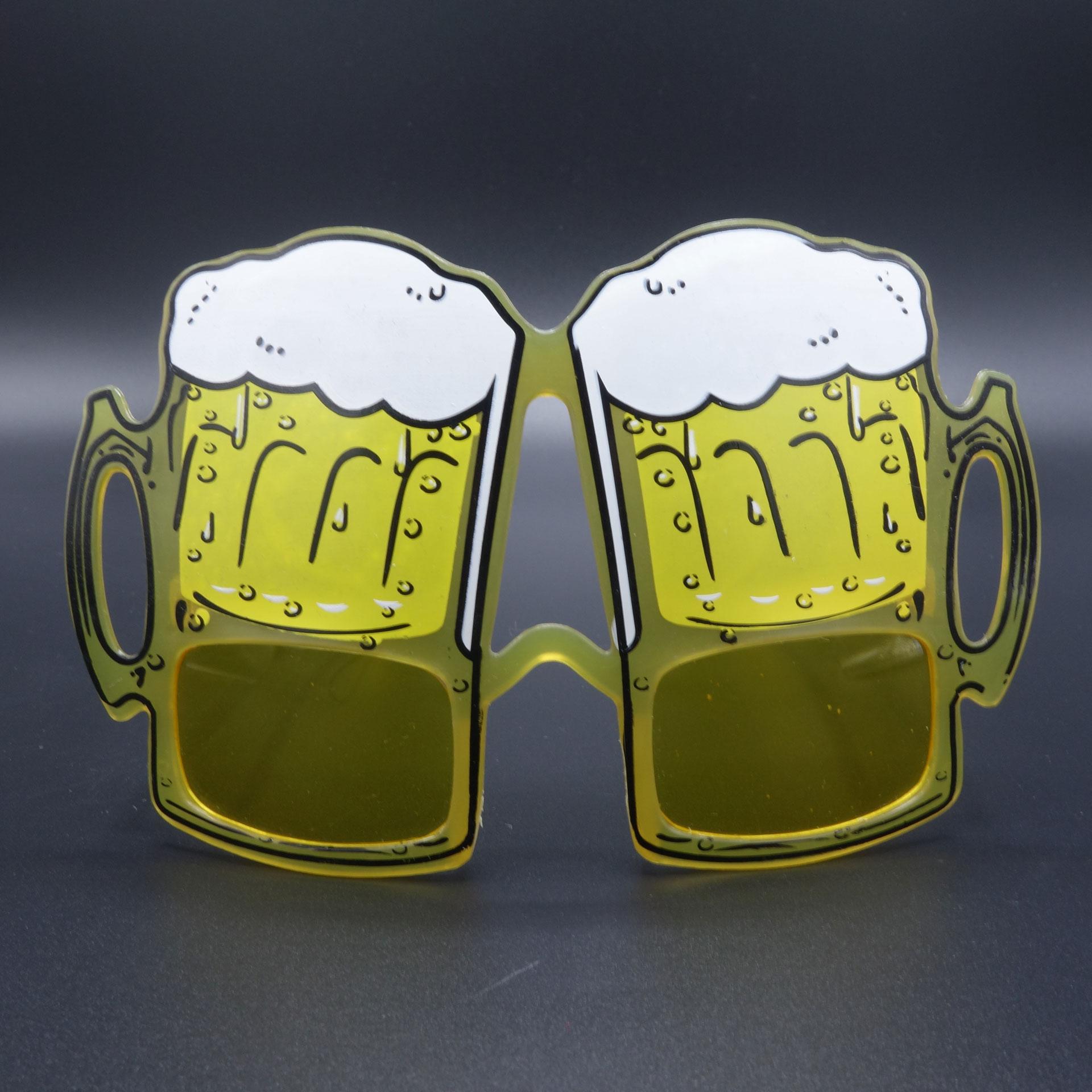 Partybrille Spassbrille Scherzarikel Brille Volles Bierglas