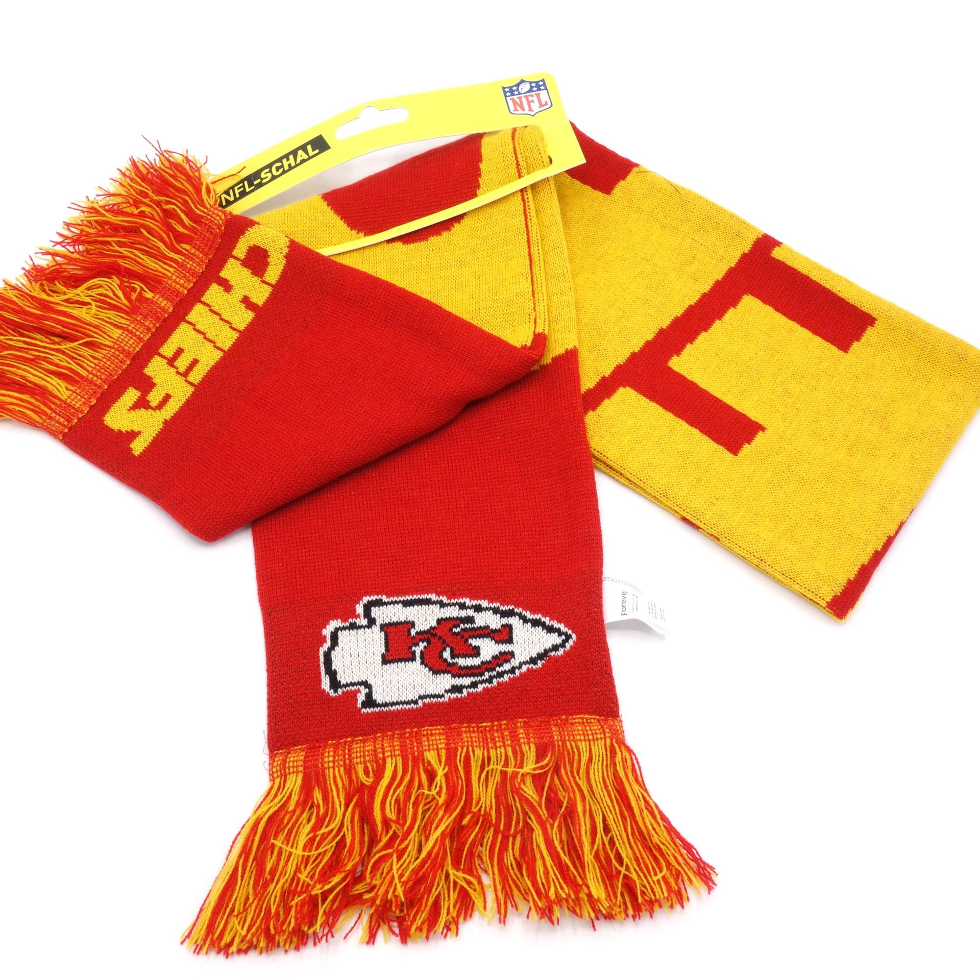NFL Schal Kansas City Chiefs Rot Gelb
