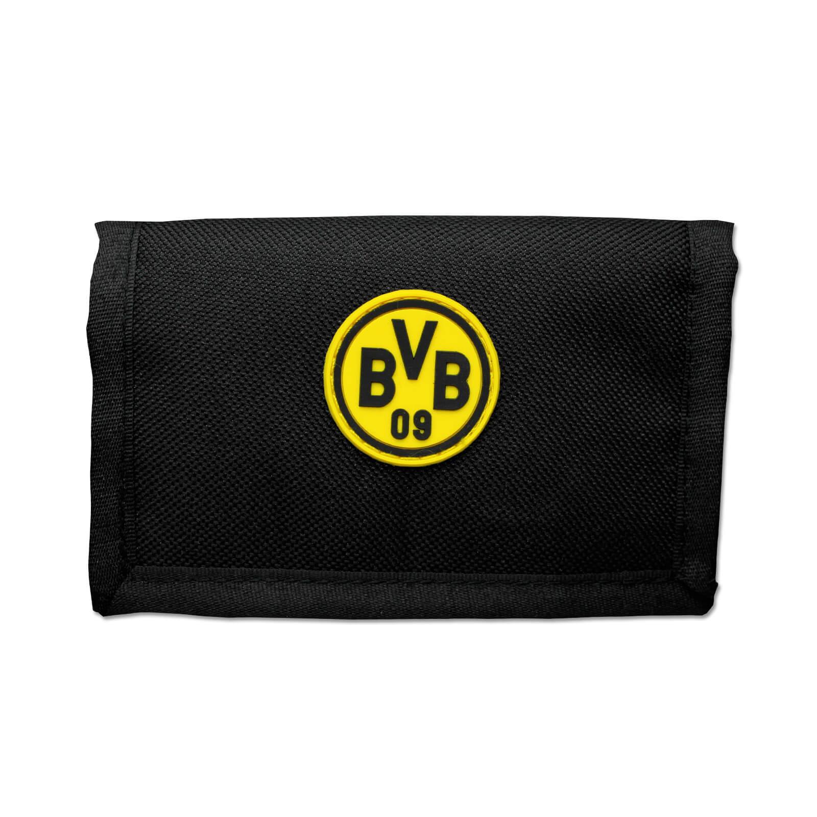 BVB Geldbörse Klettverschluß Schwarz Gelb