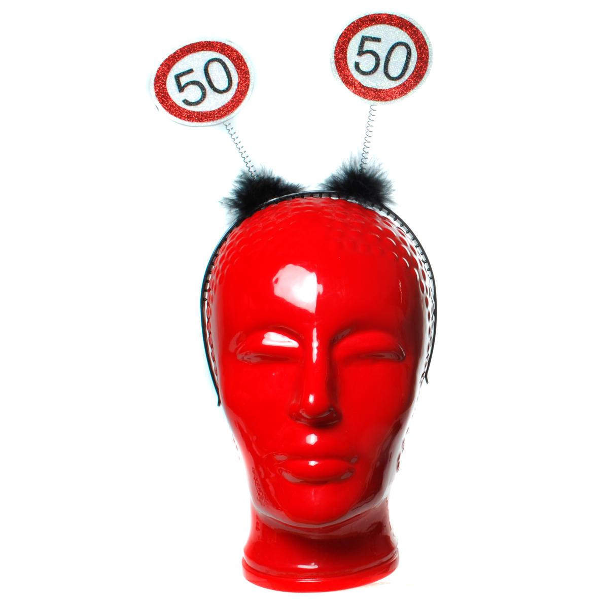"""Geburtstagsdekoration Geschenkidee Haarreifen """"50"""" Kopfbedeckung"""