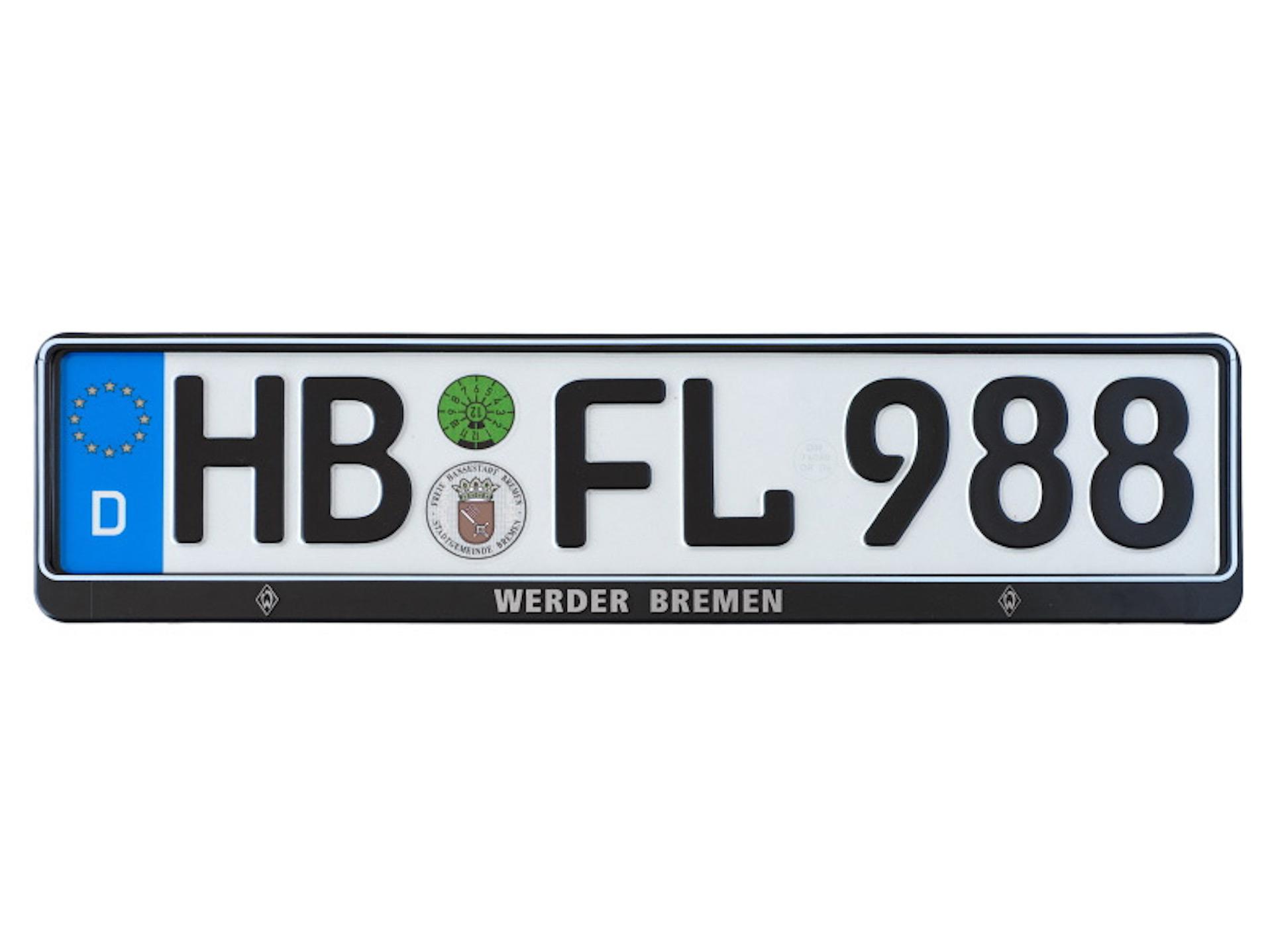 Werder Bremen Kennzeichenhalter