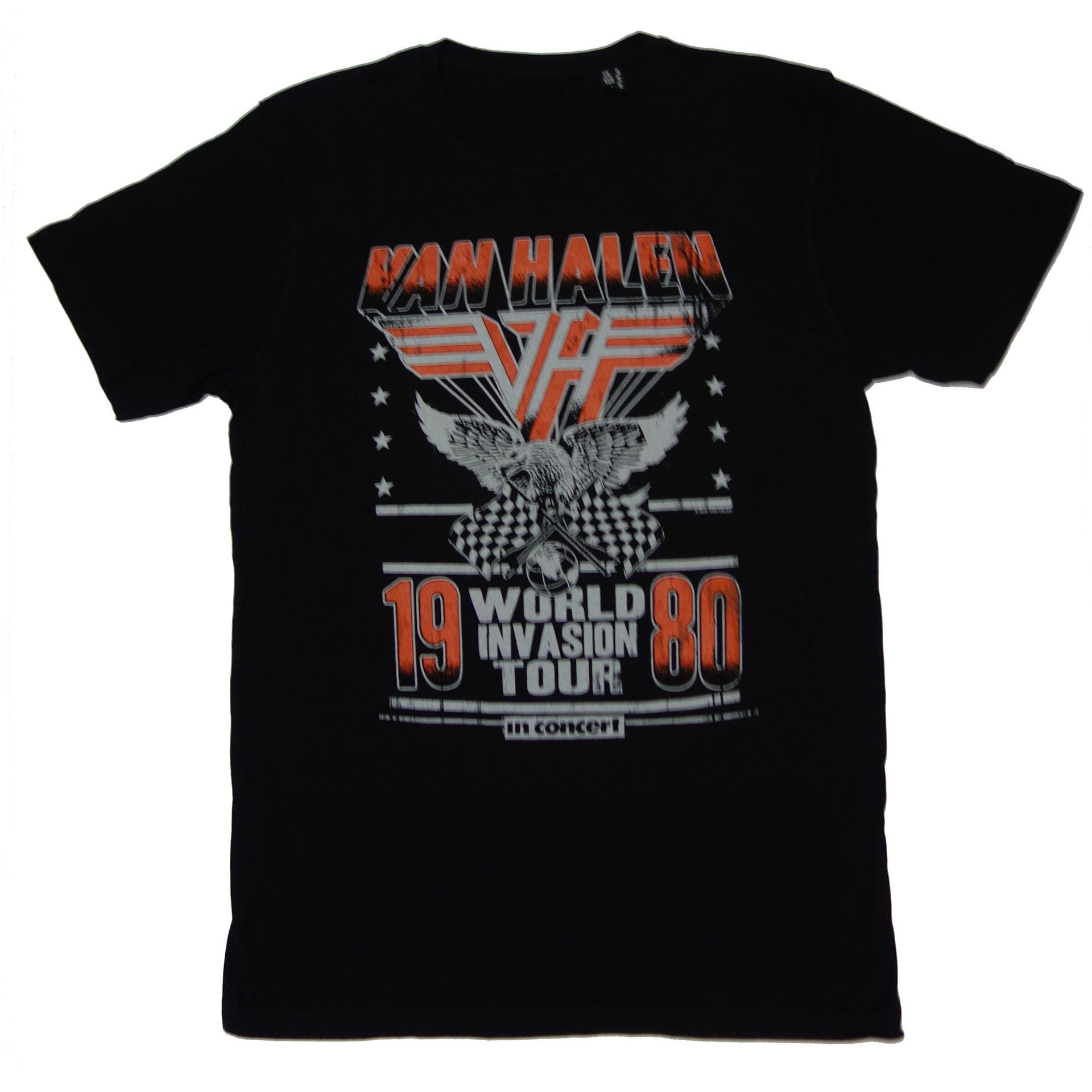 T-Shirt Van Halen World Invasion Tour 1980