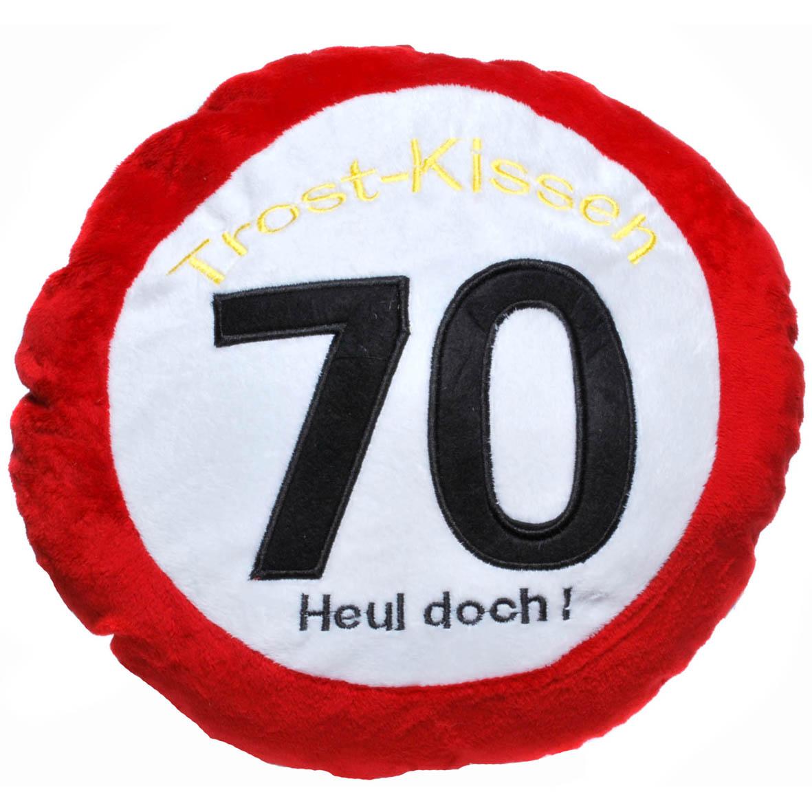 """Geburtstagsdekoration Geschenkidee Trost-Kissen """"70"""""""