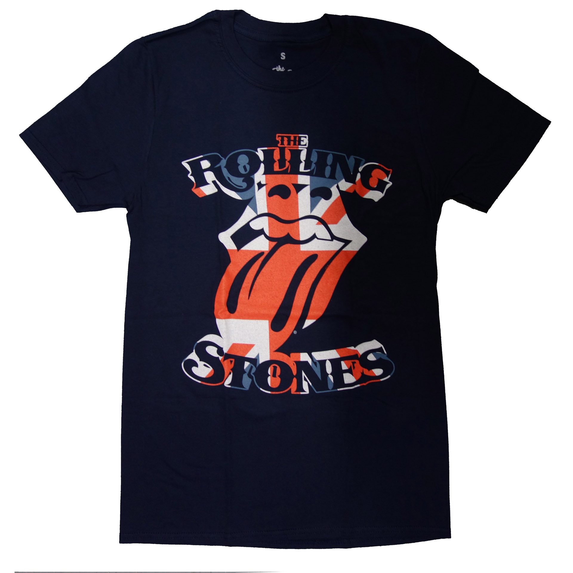 T-Shirt Rolling Stones British Flag Tongue