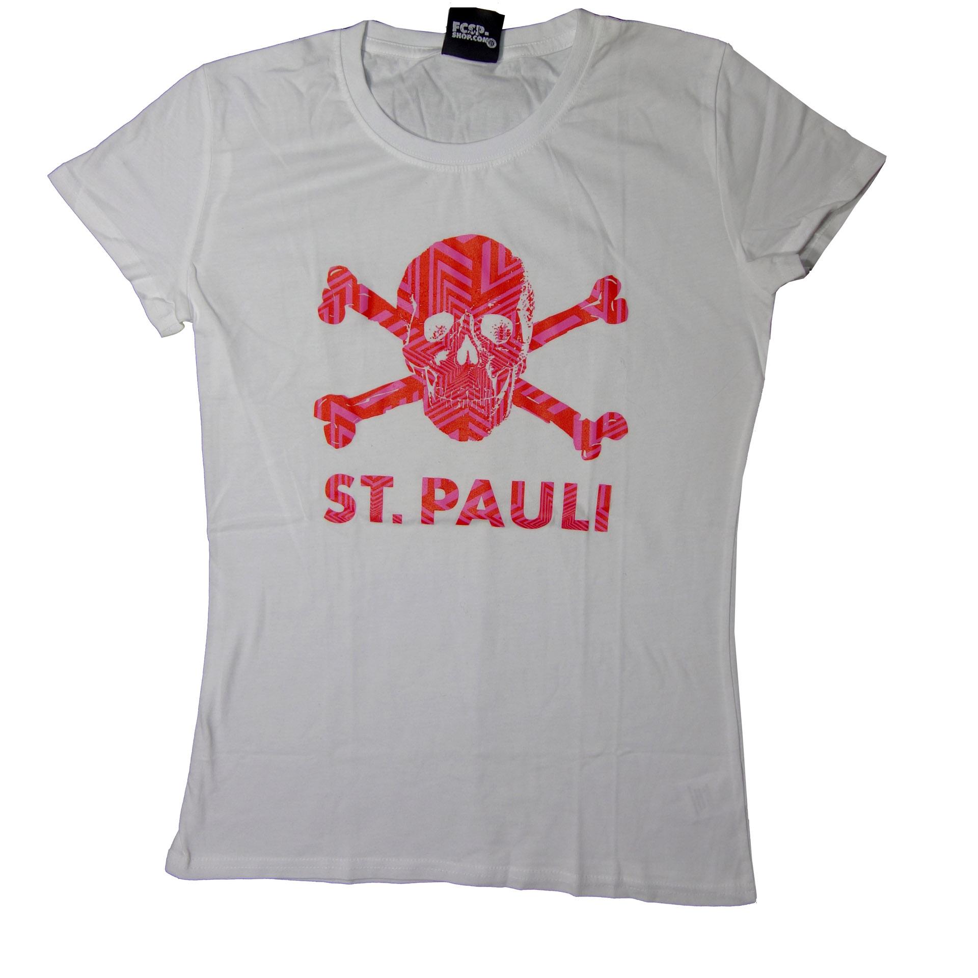 FC St. Pauli Damen T-Shirt Totenkopf
