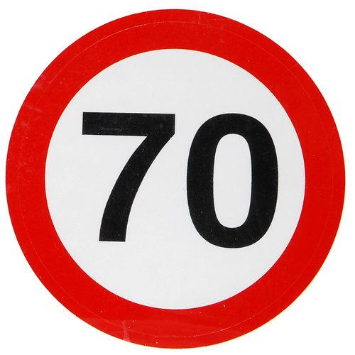 """Geburtstagsdekoration Aufkleber """"70"""" Sticker"""