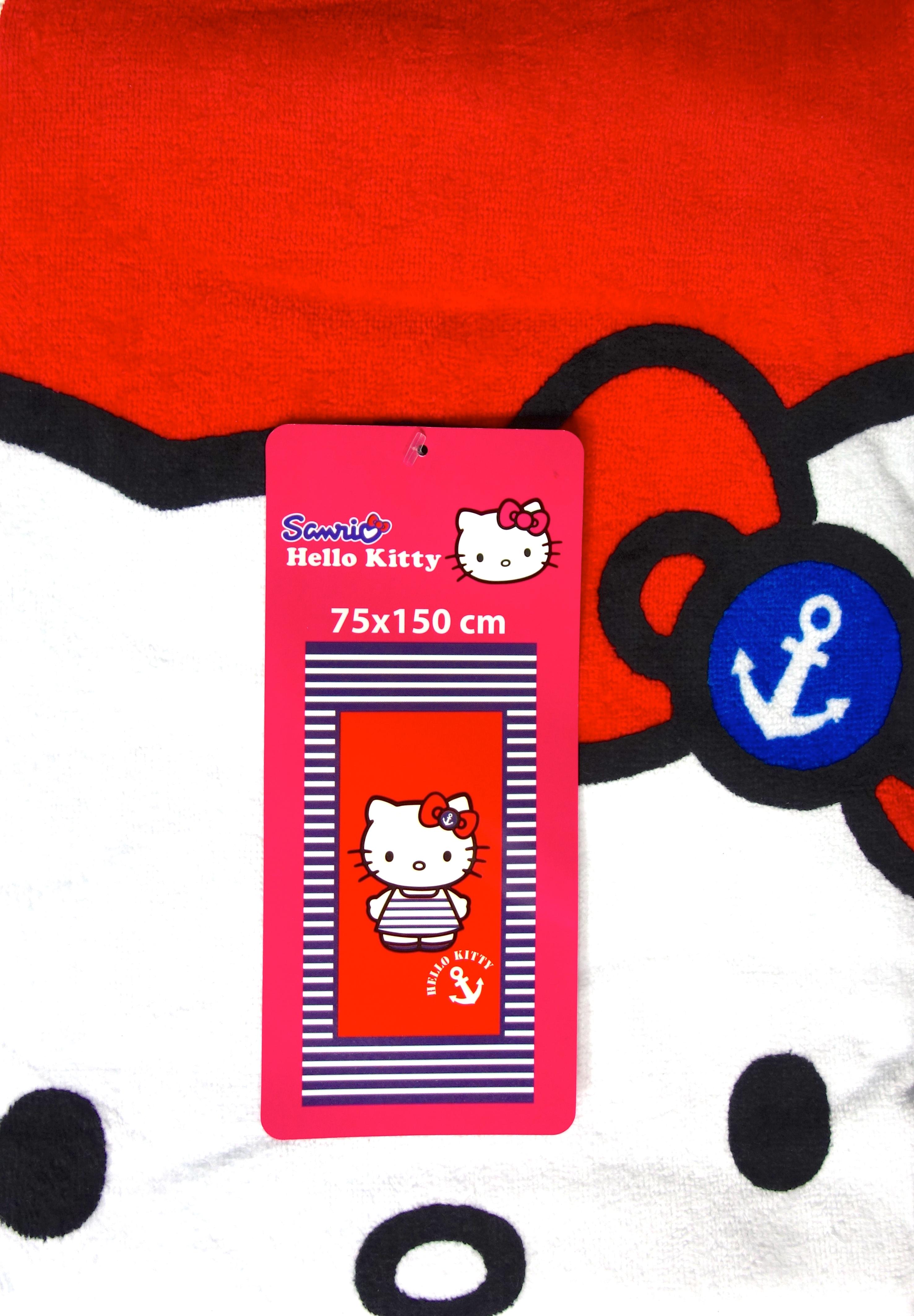 Hello Kitty Duschtuch Streifen