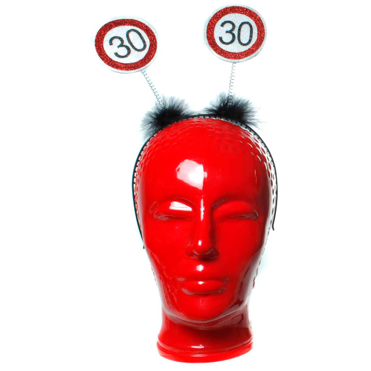 """Geburtstagsdekoration Geschenkidee Haarreifen """"30"""" Kopfbedeckung"""