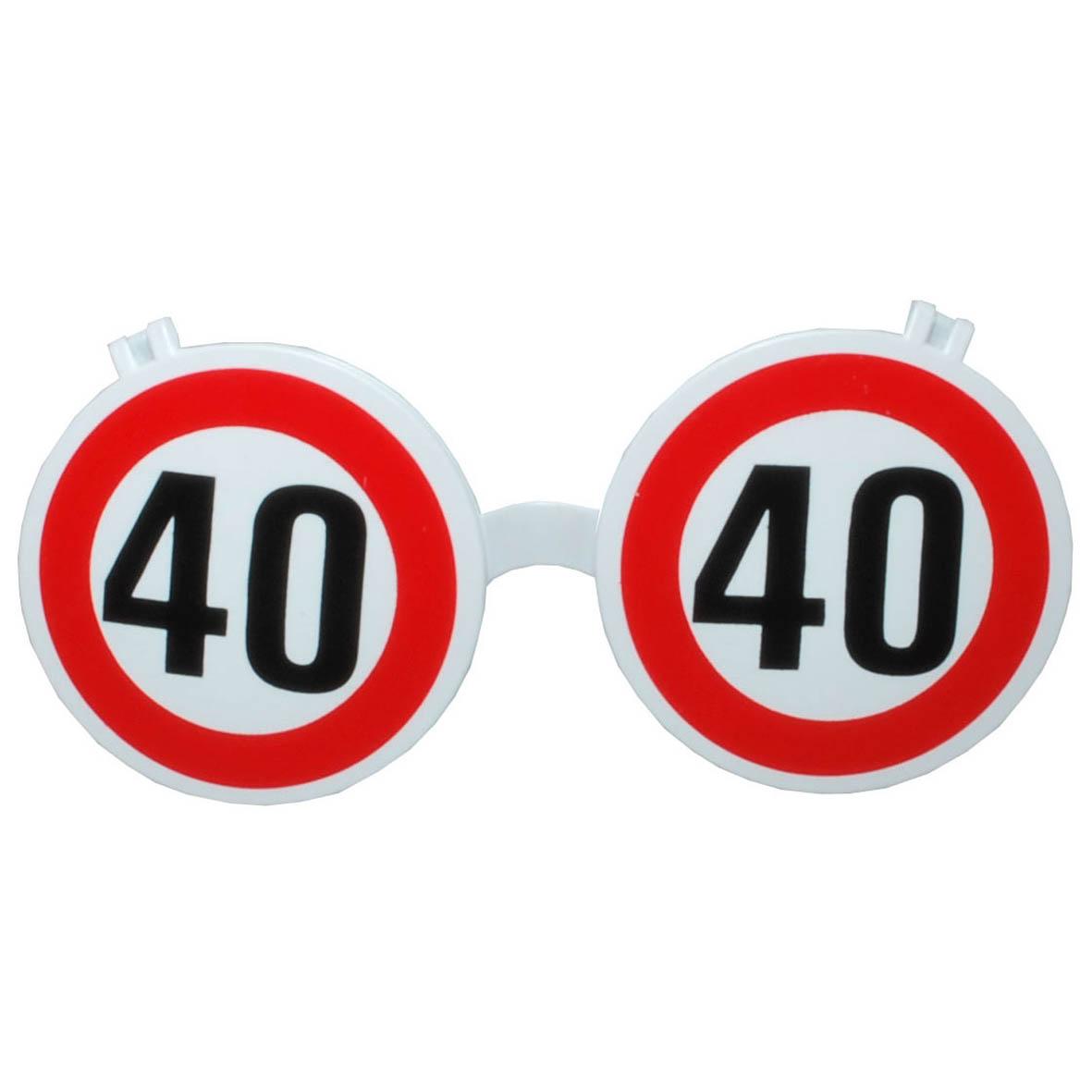 """Geburtstagsgeschenk Sonnenbrille """"40"""" Brille Geschenkidee"""