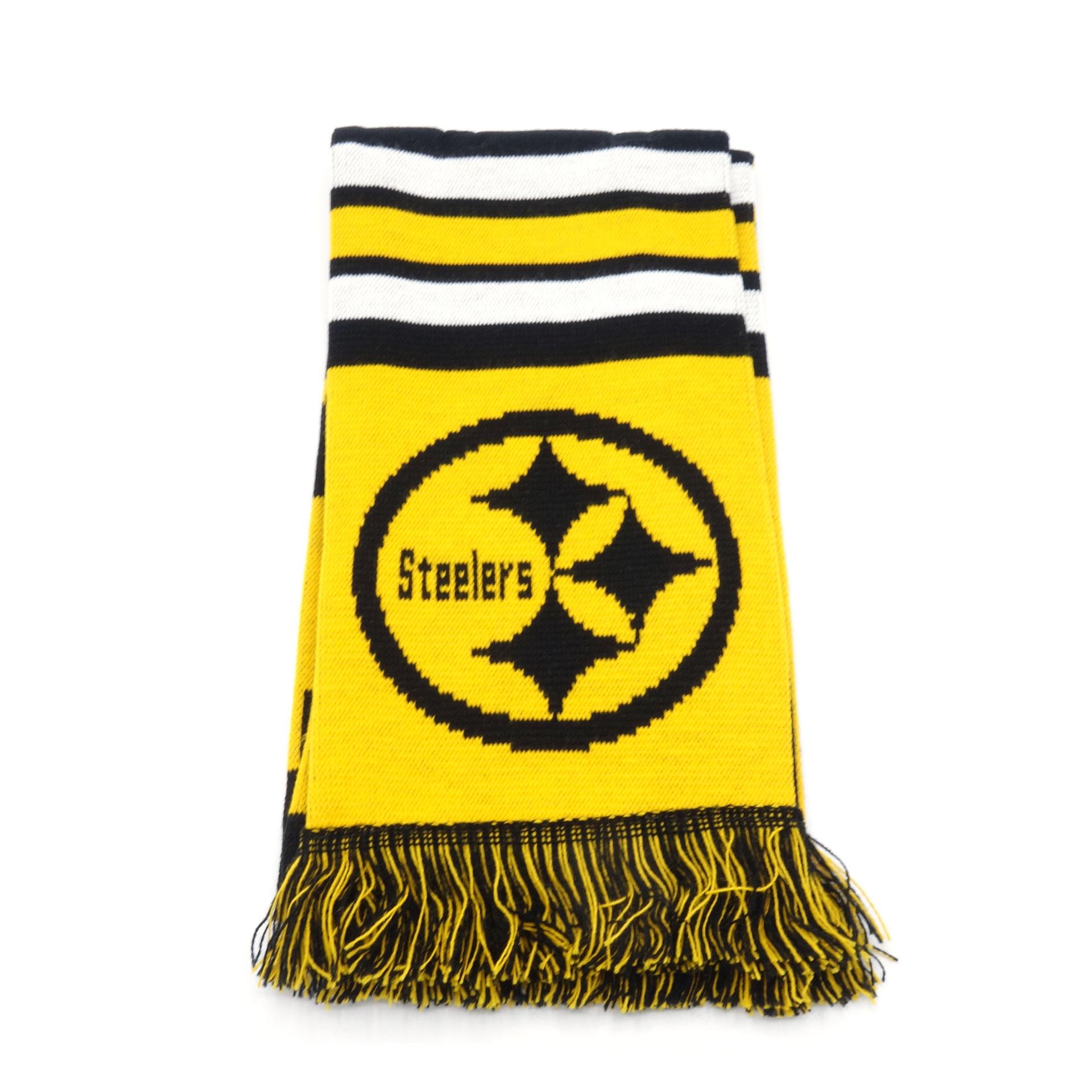 NFL Schal Pittsburgh Steelers Schwarz Gelb Weiss