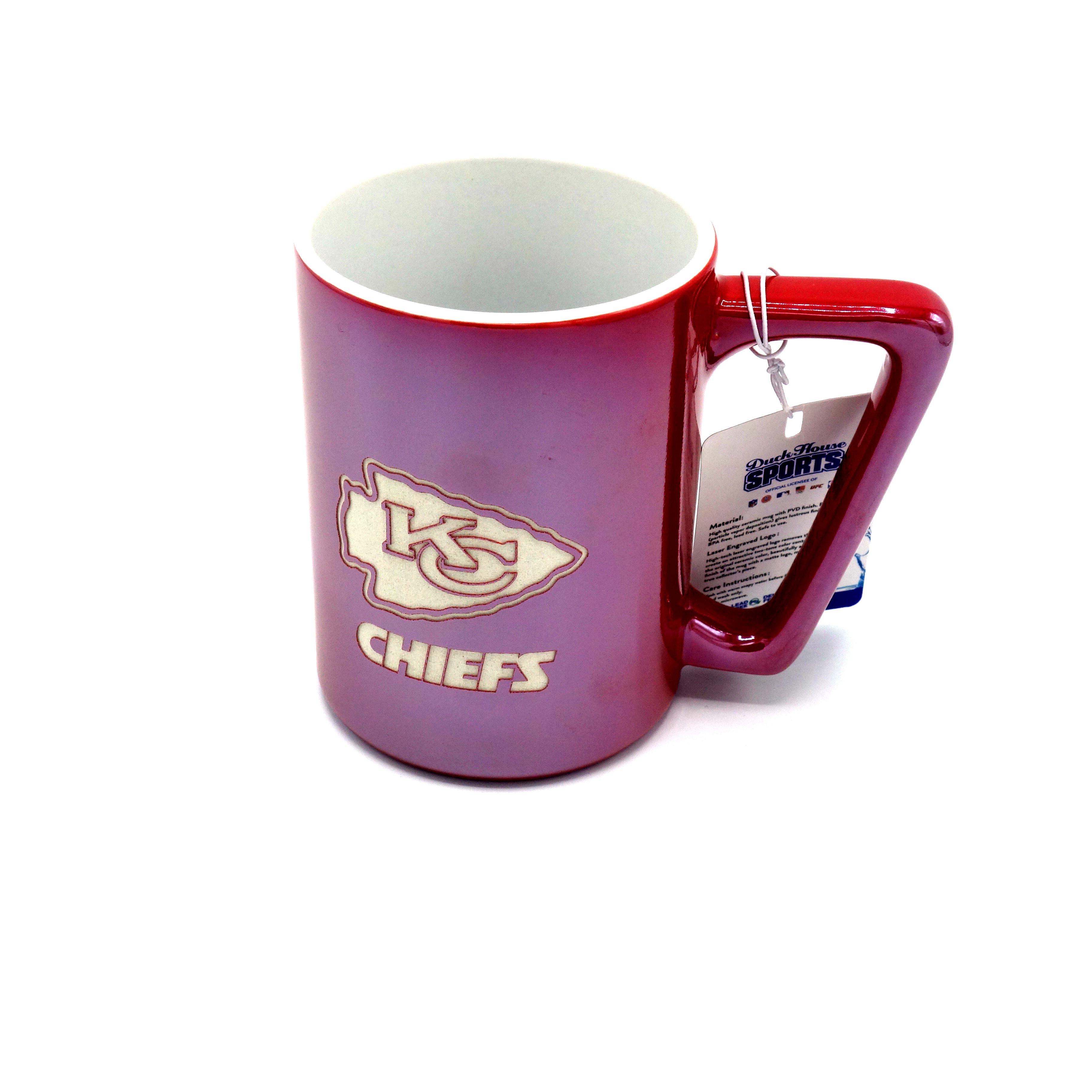 NFL Tasse Kansas City Chiefs Logo eingraviert