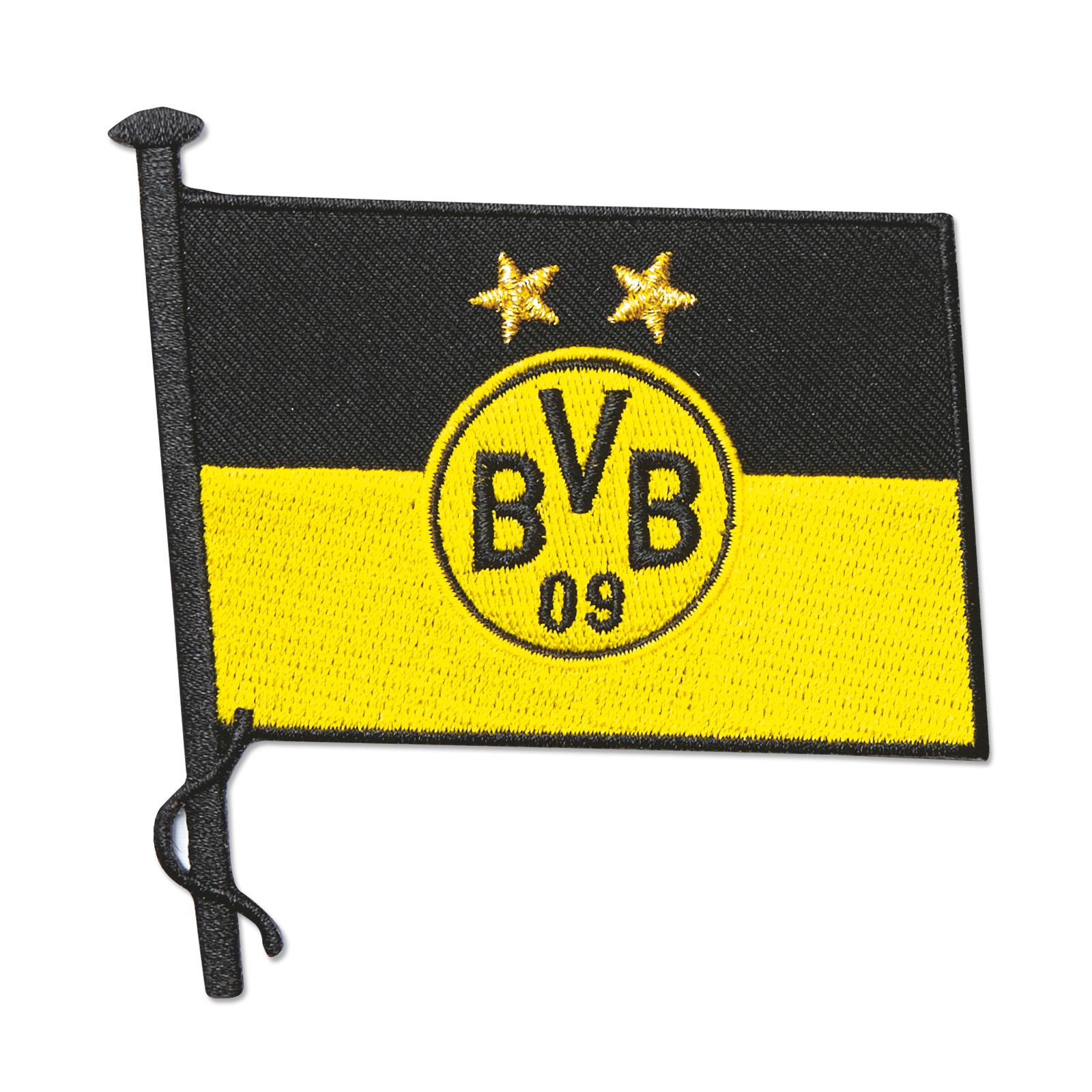 BVB Aufnäher Aufbügler Fahne