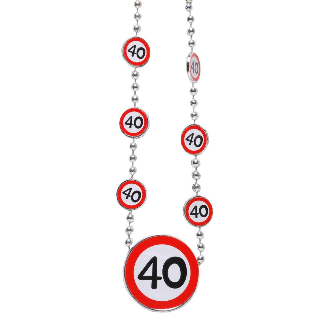 """Geburtstagsdekoration """"40"""" Geschenkidee Halskette"""