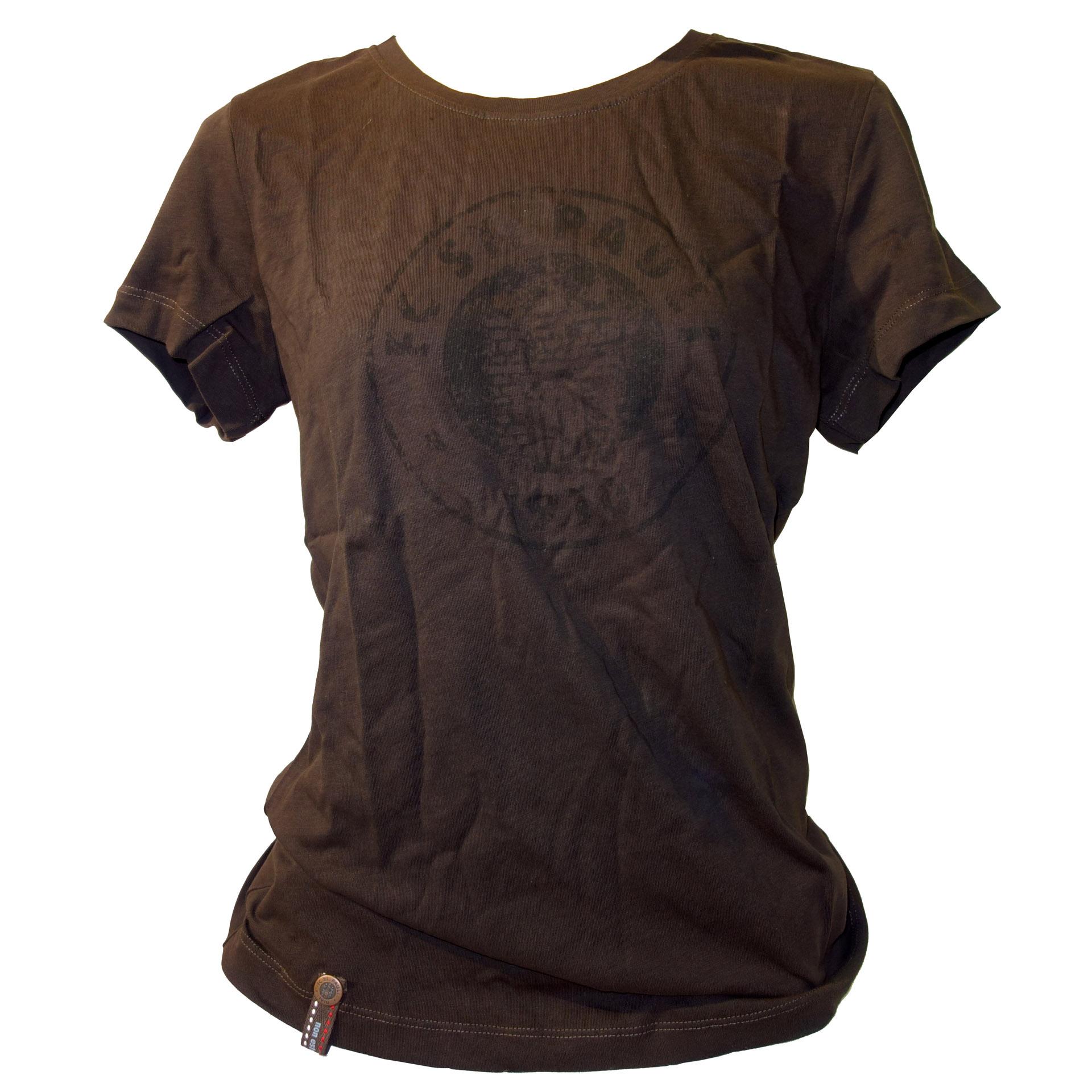 FC St. Pauli Damen T-Shirt Logo braun