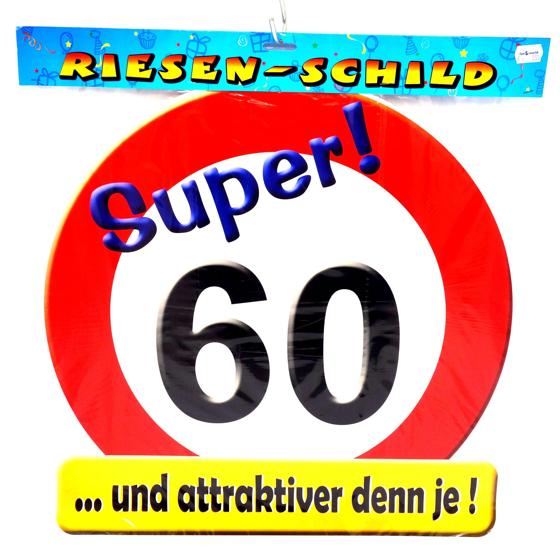 Geburtstags Riesen Deko Schild Super 60