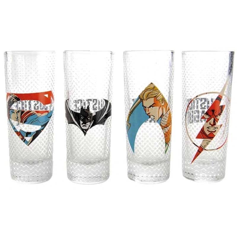 Justice League Schnapsgläser Set, Set of four mini glasses