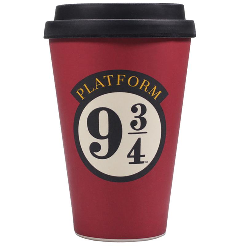 "Harry Potter Bamboo Travel Mug Coffee To Go Becher ""Platform 9 3/4"""