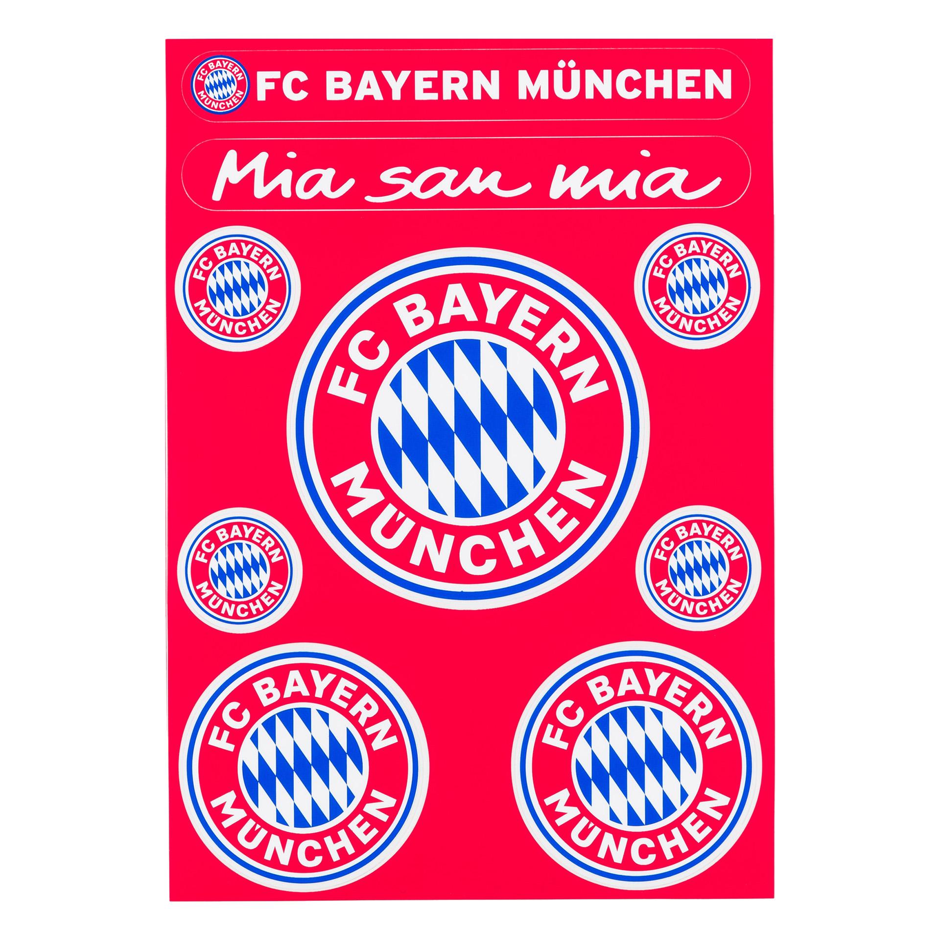 FC Bayern Aufkleberkarte Logo