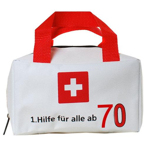 """Geburtstagsdekoration """"70"""" Geschenkidee 1. Hilfe Tasche Spaßgeschenk"""