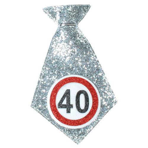"""Geburtstagsgeschenk Mini-Krawatte """"40"""" Spaßgeschenk"""