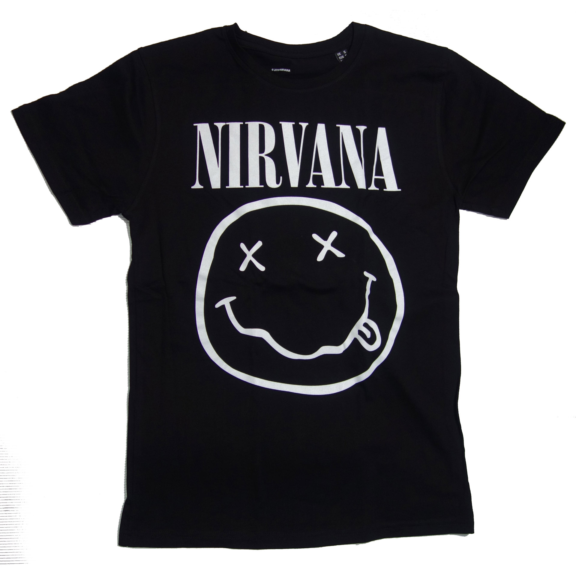 T-Shirt Nirvana White Smiley